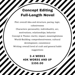 Concept Editing - Full-Length Novel